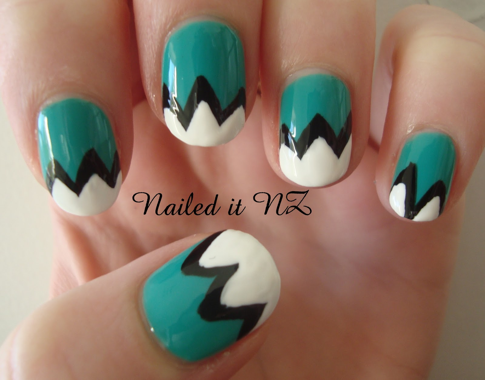 Nailed It NZ: Nail art for short nails #1: Mountain Nails