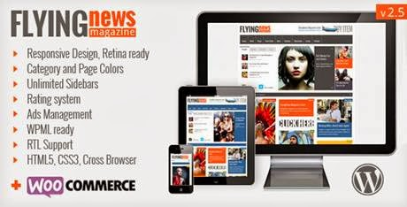 FlyingNews Responsive WordPress Magazine-bwtemplate blogs