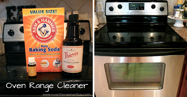 DIY oven Range Cleaner with #essentialoils