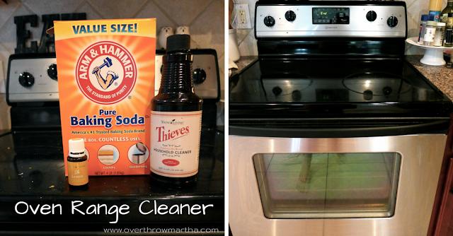 DIY oven Range Cleaner with #essentialoils