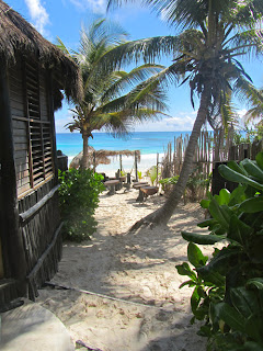 Path from Our Cabana in Tulum - Mexico's Caribbean