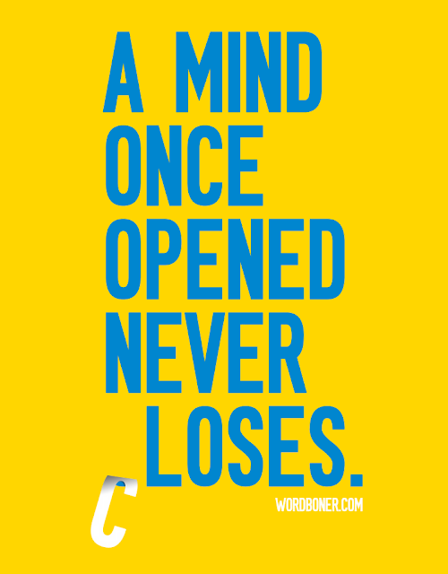 Wordbonerism: A mind once opened never (c)loses