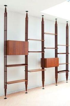 Arredamento vintage librerie anni 50 for Mobili anni 20