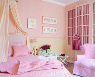 dormitorios románticos color rosa