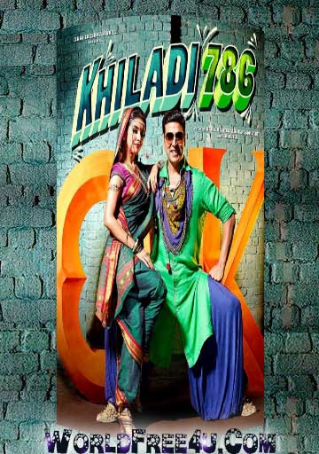Poster Of Bollywood Movie Khiladi 786 (2012) 300MB Compressed Small Size Pc Movie Free Download wor