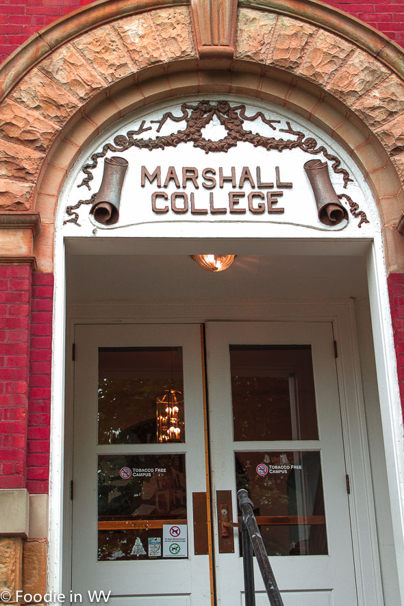 Old Marshall College Sign Marshall University