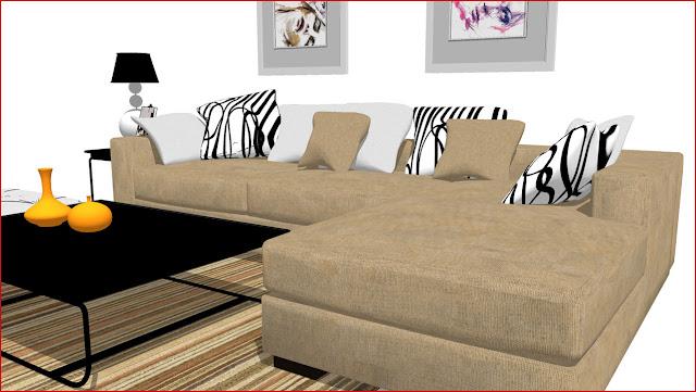 Sketchup texture sketchup free 3d model sofa 8 and visopt 14 for Kitchen set 3d warehouse