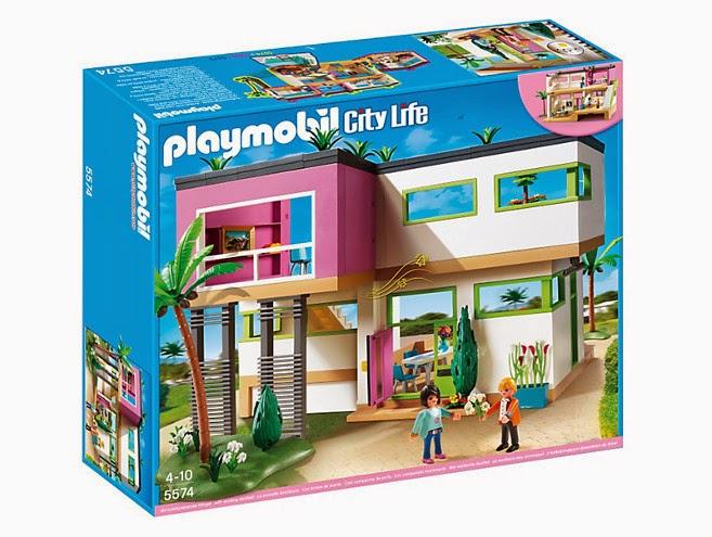 Libros y juguetes 1demagiaxfa juguetes playmobil city for Casa moderna de playmobil 123
