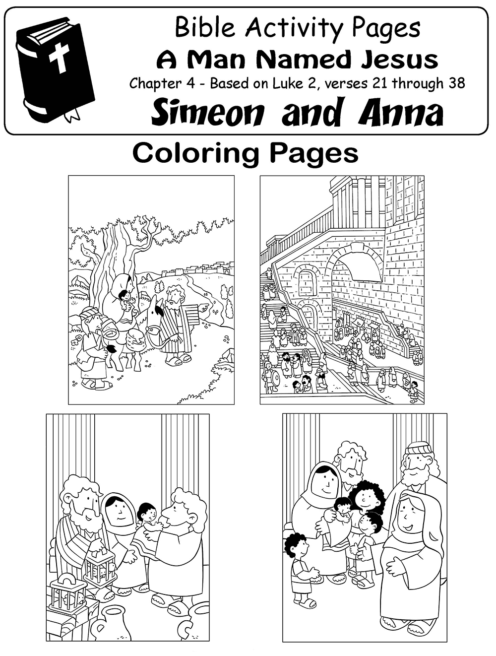 My little house bible comic 2 new chapters for Simeon and anna coloring page