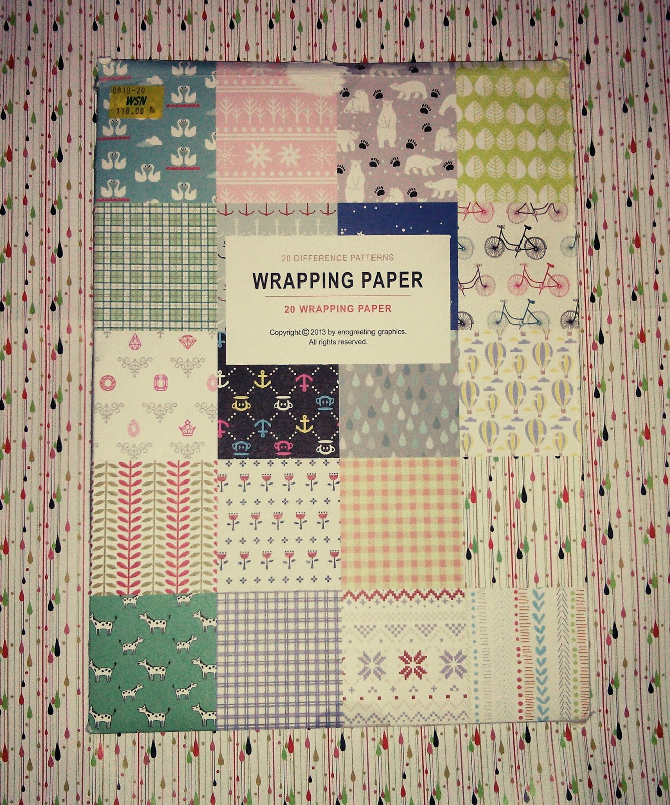 Scrapbook paper pads - 20 Pieces Wrapping Paper At P118 Set