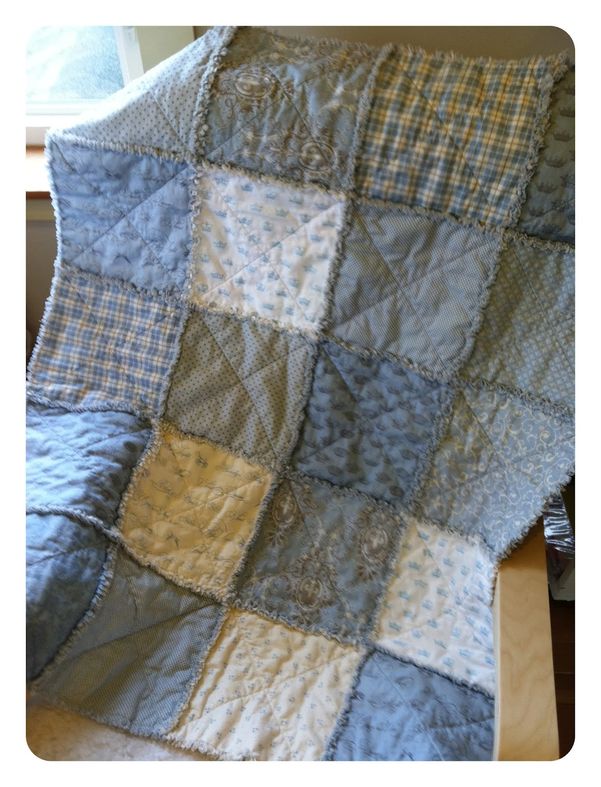 Layer Cake Rag Quilt Diy Quilting In The Rain