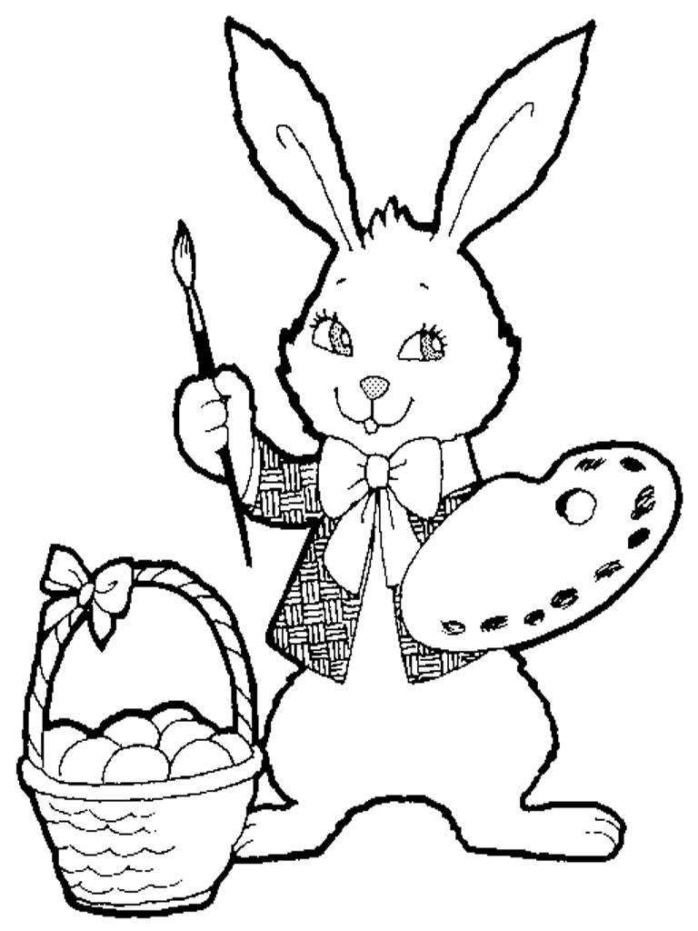 realistic baby bunny coloring pages - photo#16