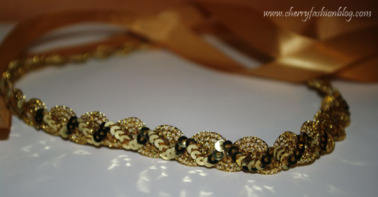 Gold sequin headband, hettie hair accessories, Hettie hair accessories review, hair accessories
