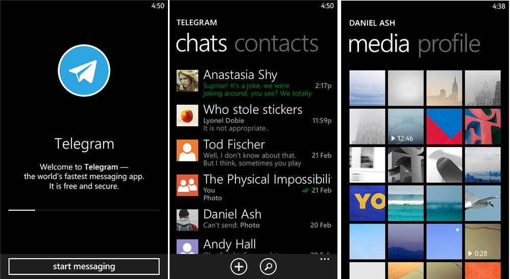 Telegram Messenger Beta Updated in WindowsPhone [1.1.4.0]