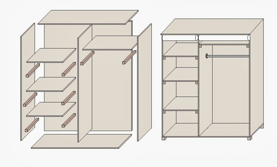 easy closets kleiderschrank selber bauen. Black Bedroom Furniture Sets. Home Design Ideas
