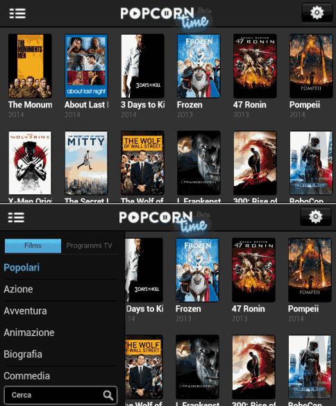 Guardare film e serie tv gratis in streaming su Android con Popcorn Time [Download]