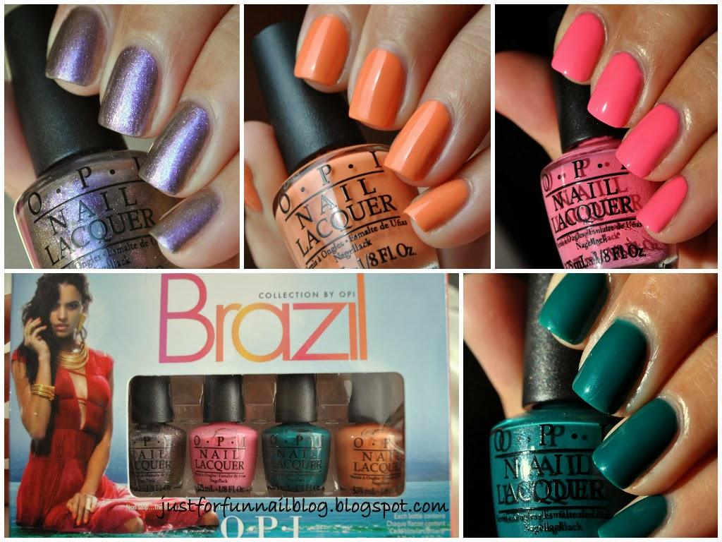 OPI Brazil Collection Minis Swatches