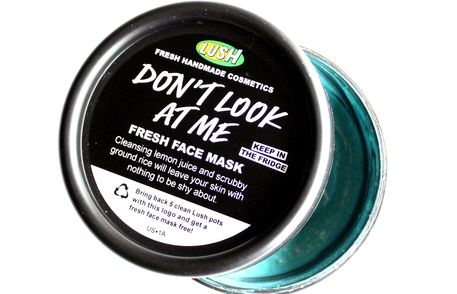 Dont look at me lush face mask review - Review Lush Don T Look At Me Fresh Mask