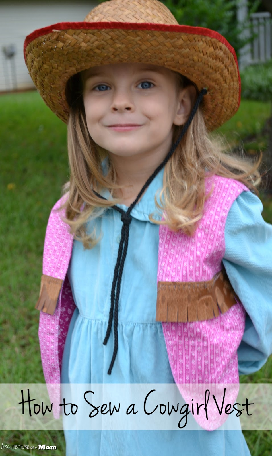 architecture of a mom: easy cowgirl vest
