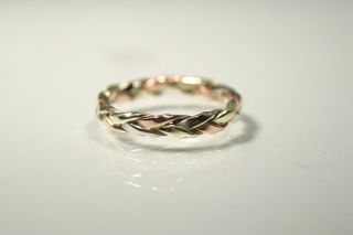 Harvest Gold Jewelry Intertwined and Braided Wedding Rings