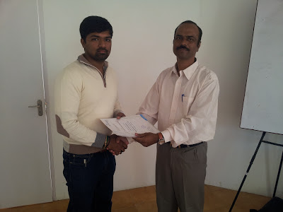 PMP Training Programme - Certificate Distribution
