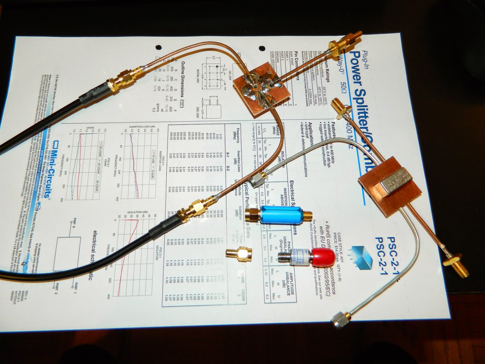 My Home Rf Lab Capacitor Signal Led Delay Minicircuit Electrical Engineering Picture Below Shows The Coupler During Its Initial Testing Nwt Output Is Connected To Input Port Of On Are 2x 20db Attenuators