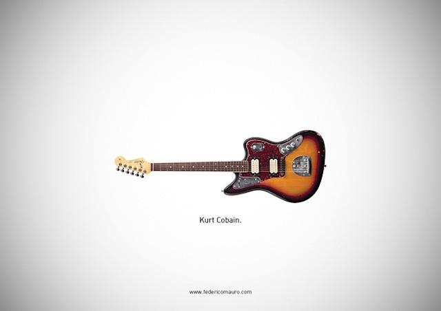 Famous Guitars Illustrations