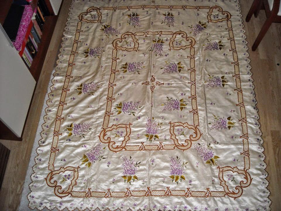 osmanlı yatak örtüsü, el işlemeleri,osmanlı el işlemeleri,antika el işlemeleri; yatak nakışları,yatak el işlemeleri, nakışlar