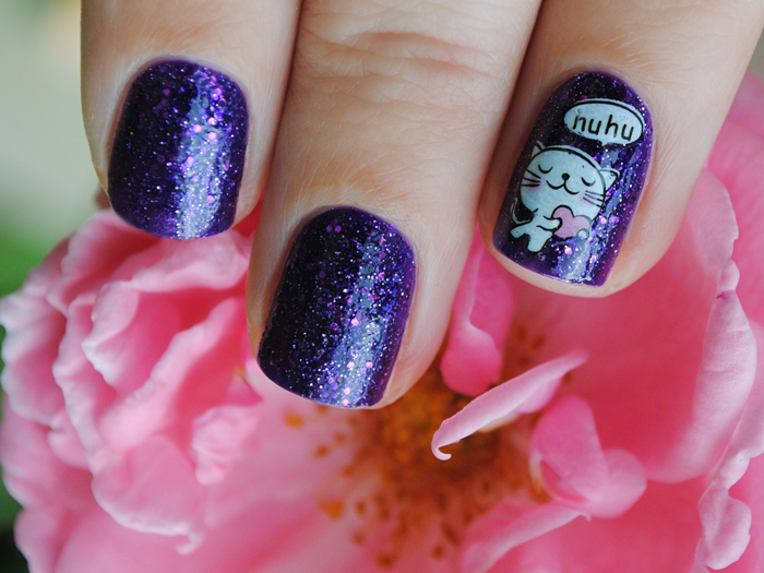 Born Pretty Store Cat Water Nail Decals