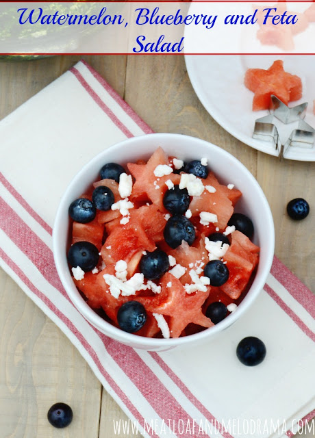 Watermelon, Blueberry and Feta Salad