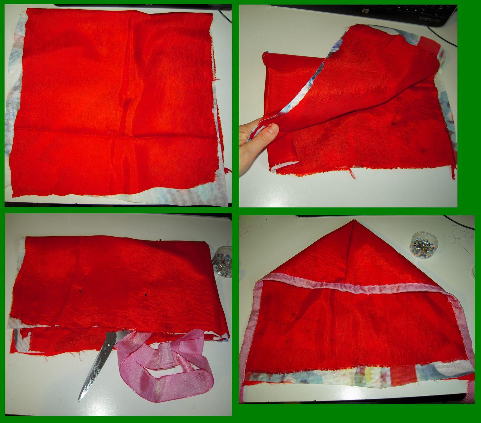 Vestito da cappuccetto rosso sangue