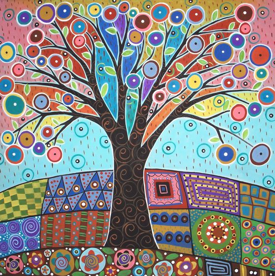 Patternprints journal naif patterns in folk paintings by for Sfondi naif