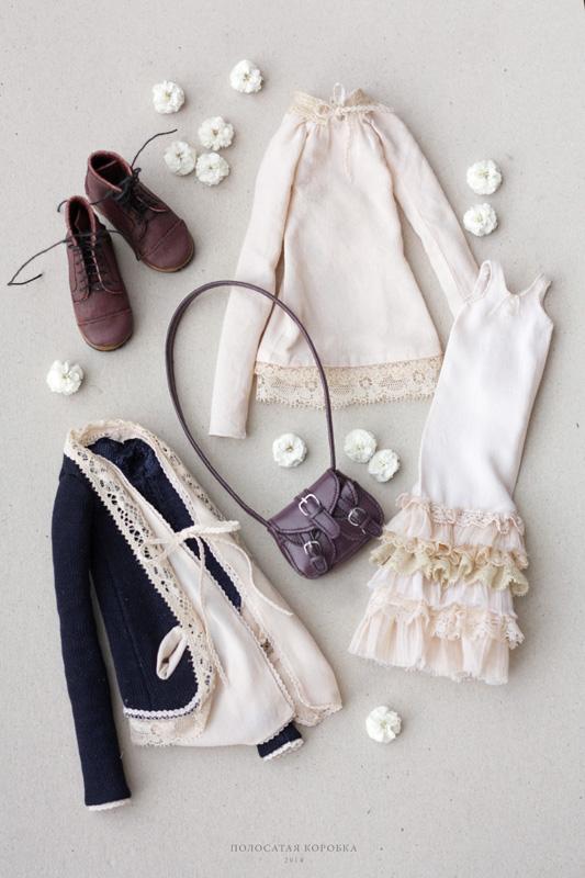 Миниатюрная одежда и обувь для куклы