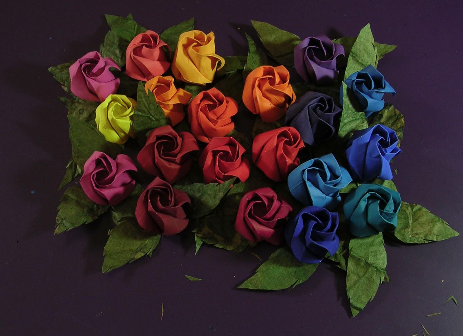 Origami rainbow roses how to make it httpbloom4ever origami rainbow roses how to make it httpbloom4everhowto origami rosep jeuxipadfo Choice Image