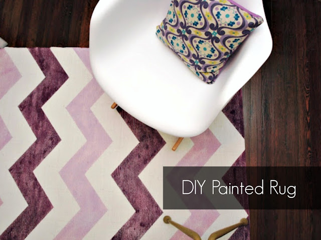 DIY Painted Rug Tutorial || This Little Miggy Stayed Home