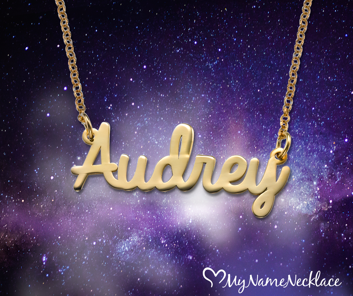 Look chic and stylish with our newest personalized necklace, the Cursive Name Necklace in 18k Gold Plating. Place any name/word on this name necklace.