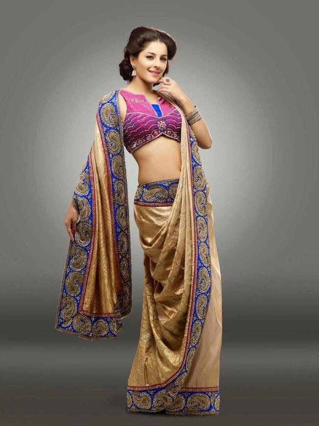 Isha Talwar In Designer Gold Saree