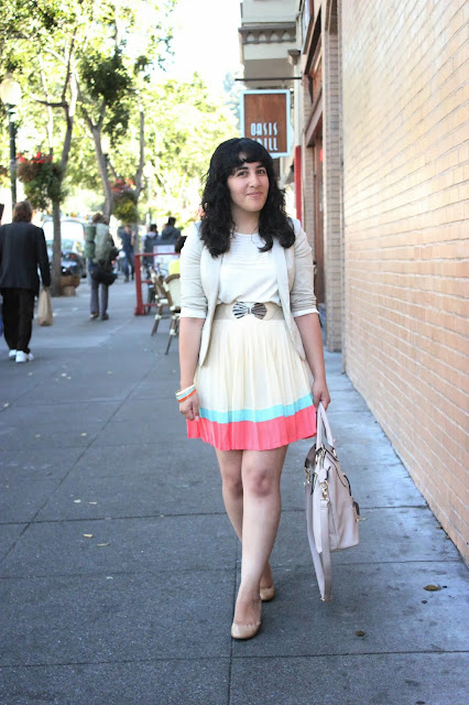 LE TOTE Pleated Skirt