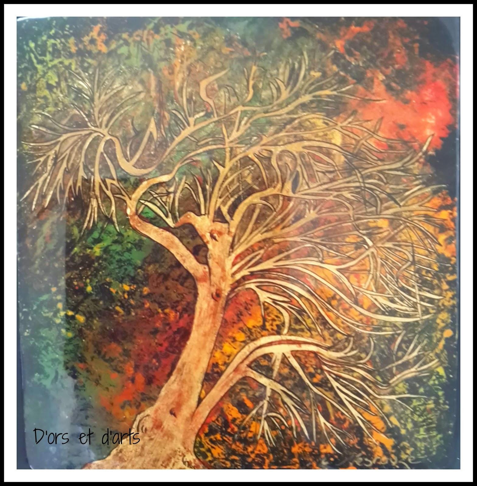 Pigments couleurs - feuilles d'or et vernis gras