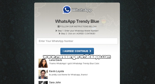 La trampa del WhatsApp Azul o WhatsApp Trendy Blue