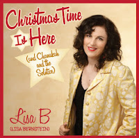 "cover art for ""Christmas Time Is Here (and Chanukah and the Solstice"" by Lisa B (Lisa Bernstein)"
