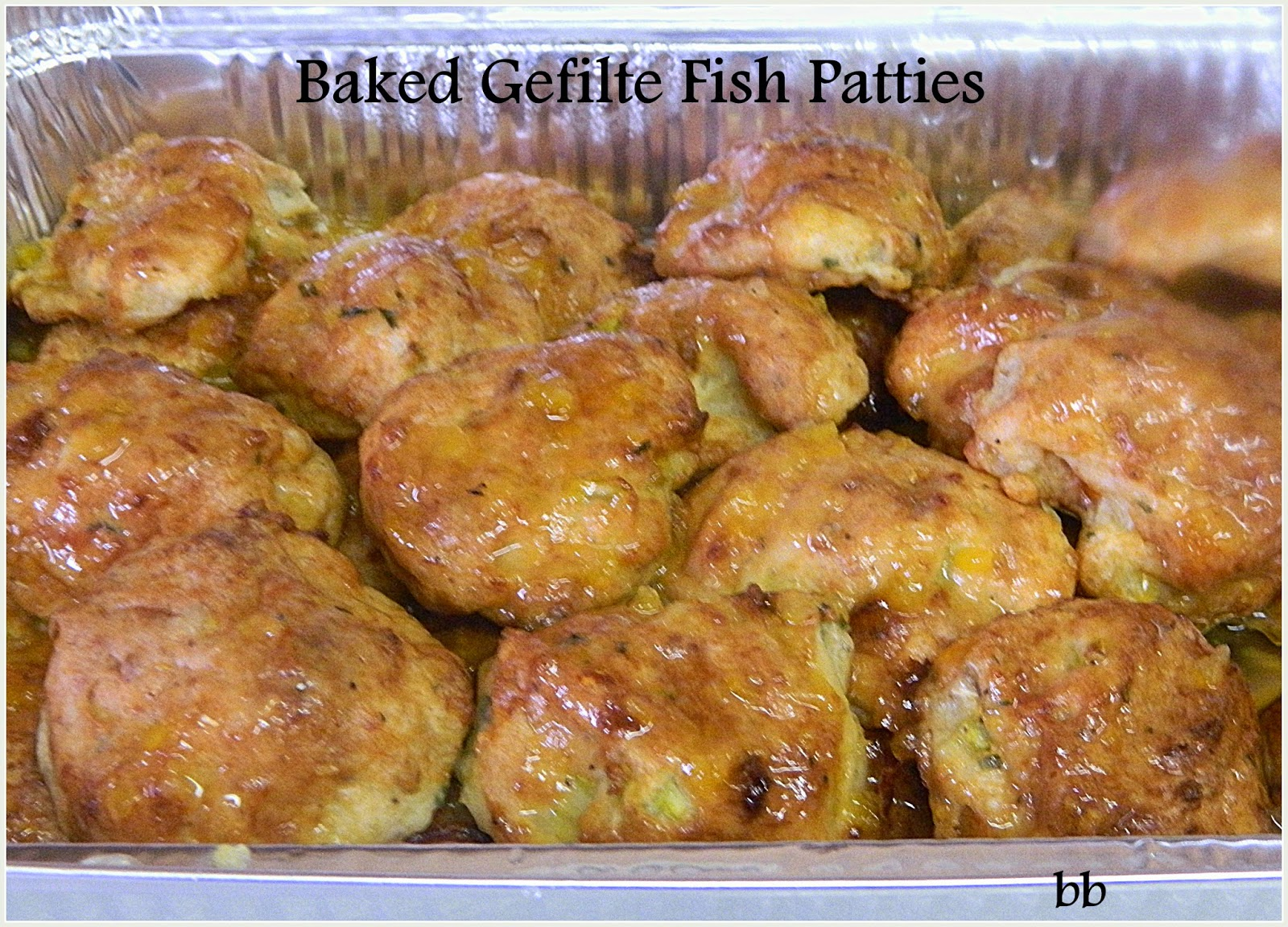 Baked gefilte fish cakes for Baked fish cakes
