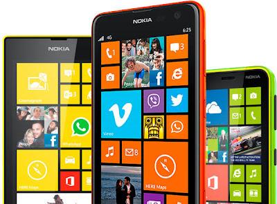 Nokia Lumia 625 tiene una buena variedad de colores