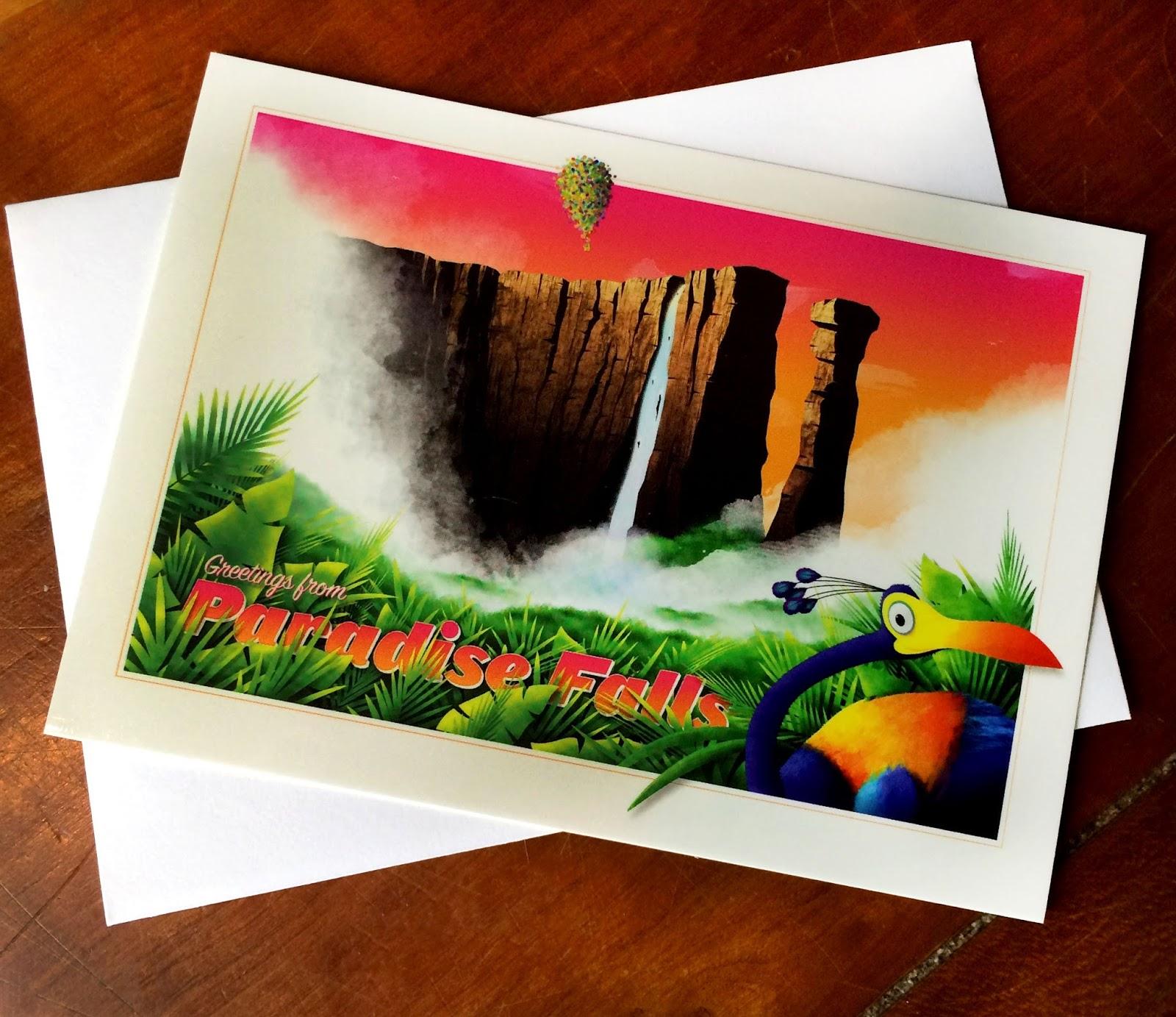Dan The Pixar Fan Up Greetings From Paradise Falls Postcard