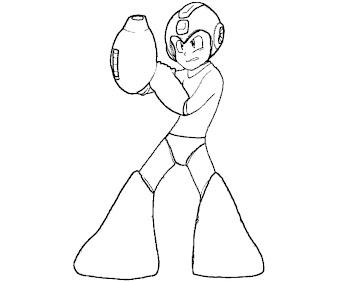 #17 Mega Man Coloring Page