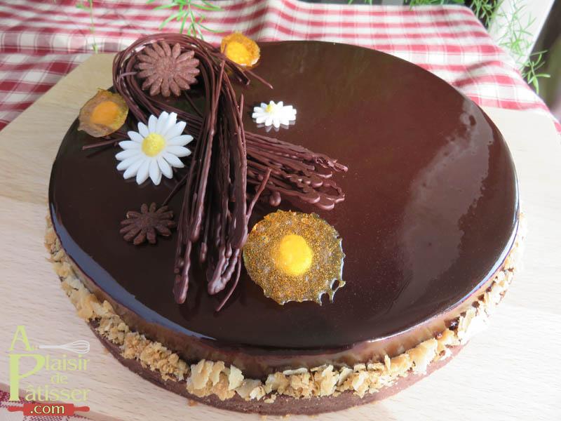 Au plaisir de p tisser tarte entremet chocolat passion - Comment decorer une tarte au chocolat ...