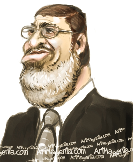 Morsi is a caricature by Artmagenta