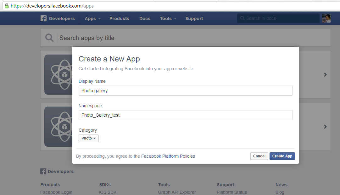 Facebook create Custom tabs