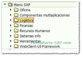 Menu SAP