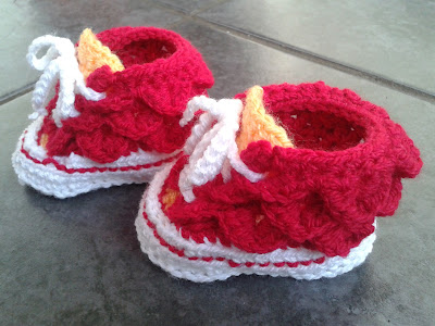 Crochet Geek : Crochet Baby High Top Booties